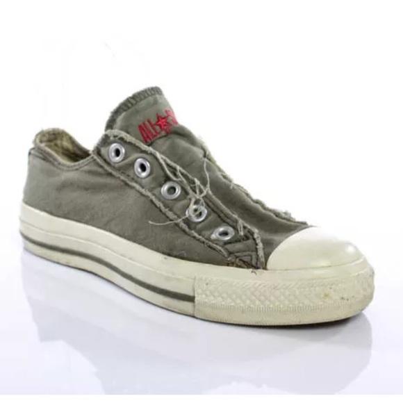 09de461e3b8c27 Converse Shoes - JOHN VARVATOS ARMY GREEN LOW TOP CONVERSE SIZE 5